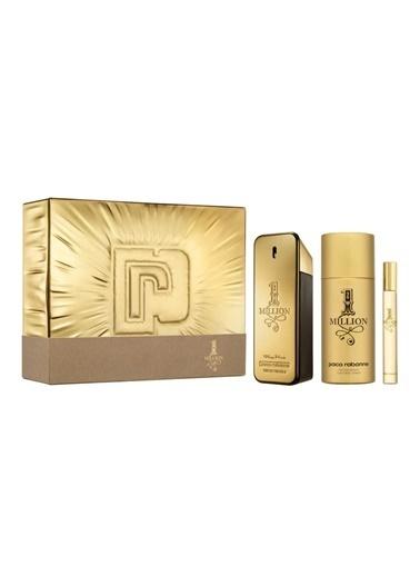 Paco Rabanne One Million Edt 100 Ml + Deodorant 150 Ml + Edt 10 Ml Renksiz